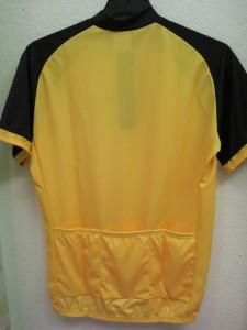 Fekete-sárga Elastic rövid ujjú mez hátulról
