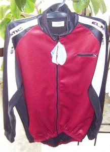 Elastic piros-fekete, téli kabát.